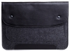 Gmakin Felt Cover with clasp-button for Macbook 13 new black GM01-13New рис.3
