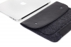Gmakin Felt Cover with clasp-button for Macbook 13 new black GM01-13New рис.5
