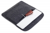 Gmakin Felt Cover with clasp-button for Macbook 13 new black GM01-13New рис.6