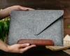 Чехол для ноутбука Gmakin для Macbook Pro 13 New светло-серый, коричневая полоса (GM10-13New) рис.10
