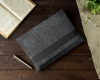 Gmakin Felt Cover horisontal for Macbook 13 new dark grey GM14-13New рис.5