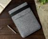 Чехол для ноутбука Gmakin для Macbook Pro 13 New светло-серый, вертикальный, на резинке (GM16-13New) мал.5