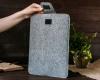 Чехол для ноутбука Gmakin для Macbook Pro 13 New светло-серый, на застежке (GM55-13New) мал.11