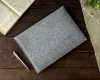 Gmakin Felt Cover horisontal for Macbook 15 light grey GM15-15 рис.6
