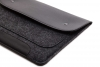 Gmakin Felt Cover with clasp-button for Macbook Air 13,3/Pro 13,3 black GM01 рис.4