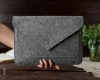 Чехол для ноутбука Gmakin для Macbook Air/Pro 13,3 светло-серый, на кнопке (GM07) мал.10