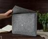 Чехол для ноутбука Gmakin для Macbook Air/Pro 13,3 светло-серый, на кнопке (GM07) мал.11