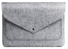 Чехол для ноутбука Gmakin для Macbook Air/Pro 13,3 светло-серый, на кнопке (GM07) мал.2