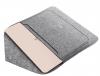 Чехол для ноутбука Gmakin для Macbook Air/Pro 13,3 светло-серый, на кнопке (GM07) мал.4