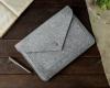 Чехол для ноутбука Gmakin для Macbook Air/Pro 13,3 светло-серый, на кнопке (GM07) мал.5