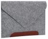 Чехол для ноутбука Gmakin для Macbook Air/Pro 13,3 светло-серый, коричневая полоса (GM10) мал.1