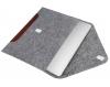 Чехол для ноутбука Gmakin для Macbook Air/Pro 13,3 светло-серый, коричневая полоса (GM10) мал.2