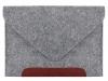 Чехол для ноутбука Gmakin для Macbook Air/Pro 13,3 светло-серый, коричневая полоса (GM10) мал.3
