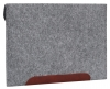 Чехол для ноутбука Gmakin для Macbook Air/Pro 13,3 светло-серый, коричневая полоса (GM10) мал.4