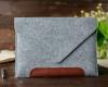 Чехол для ноутбука Gmakin для Macbook Air/Pro 13,3 светло-серый, коричневая полоса (GM10) мал.5