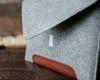 Чехол для ноутбука Gmakin для Macbook Air/Pro 13,3 светло-серый, коричневая полоса (GM10) мал.6