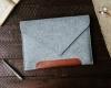 Чехол для ноутбука Gmakin для Macbook Air/Pro 13,3 светло-серый, коричневая полоса (GM10) мал.8