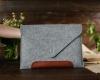 Чехол для ноутбука Gmakin для Macbook Air/Pro 13,3 светло-серый, коричневая полоса (GM10) мал.9