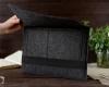 Чехол для ноутбука Gmakin для Macbook Air/Pro 13,3 темно-серый, горизонтальный, на резинке (GM14) мал.11