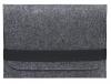 Чехол для ноутбука Gmakin для Macbook Air/Pro 13,3 темно-серый, горизонтальный, на резинке (GM14) мал.3