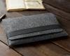 Чехол для ноутбука Gmakin для Macbook Air/Pro 13,3 темно-серый, горизонтальный, на резинке (GM14) мал.8