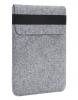 Чехол для ноутбука Gmakin для Macbook Air/Pro 13,3 светло-серый, вертикальный, на резинке (GM16) мал.1