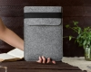 Чехол для ноутбука Gmakin для Macbook Air/Pro 13,3 светло-серый, вертикальный, на резинке (GM16) мал.10