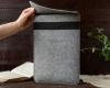 Чехол для ноутбука Gmakin для Macbook Air/Pro 13,3 светло-серый, вертикальный, на резинке (GM16) мал.11