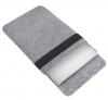 Чехол для ноутбука Gmakin для Macbook Air/Pro 13,3 светло-серый, вертикальный, на резинке (GM16) мал.3