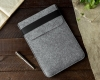 Чехол для ноутбука Gmakin для Macbook Air/Pro 13,3 светло-серый, вертикальный, на резинке (GM16) мал.5