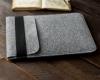 Чехол для ноутбука Gmakin для Macbook Air/Pro 13,3 светло-серый, вертикальный, на резинке (GM16) рис.8
