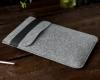 Чехол для ноутбука Gmakin для Macbook Air/Pro 13,3 светло-серый, вертикальный, на резинке (GM16) мал.9