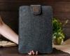 Чехол для ноутбука Gmakin для Macbook Air/Pro 13,3 темно-серый, на застежке (GM56) рис.10