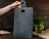 Чехол для ноутбука Gmakin для Macbook Air/Pro 13,3 темно-серый, на застежке (GM56) рис.11
