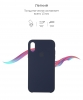 Apple iPhone XR Silicone Case (OEM) - Midnight Blue рис.3