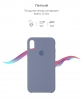 Apple iPhone XR Silicone Case (OEM) - Lavender Gray рис.3