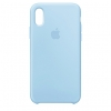 Apple iPhone XR Silicone Case (HC) - Light Blue рис.1