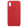 Apple iPhone XR Silicone Case (HC) - Red рис.1