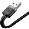 Baseus Cafule Cable USB For lightning 2.4A 1M Gray+Black (CALKLF-BG1) рис.2