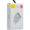 Baseus Mirror Lake Intelligent Digital Display 3USB Travel Charger 3.4A White (CCALL-BH02) мал.3