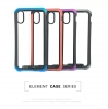 Element Case for iPhone XS Max Transparent clear Black/Blue рис.1