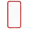 Чехол ArmorStandart Magnetic case 1 generation for iPhone XS Max clear/red мал.1