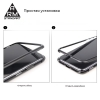 Чехол ArmorStandart Magnetic case 1 generation for iPhone XS Max clear/red мал.5