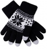 Touch Gloves with ornament black/white рис.1