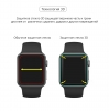 Apple Watch 4/5/6/SE Full Glue Tempered Glass 40 mm Black мал.4