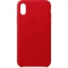 Leather Case Original for Apple iPhone XS Max (OEM) - Red мал.1