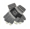 Touch Gloves with ornament grey/black рис.1