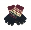 Touch Gloves with ornament dark blue/red рис.1