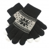 Touch Gloves with ornament black/grey size S рис.1