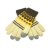 Touch Gloves with ornament beige/brown size M рис.1